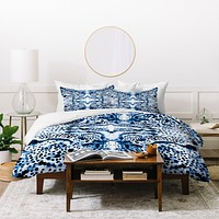 Elisabeth Fredriksson Symmetric Dream Blue Duvet Cover