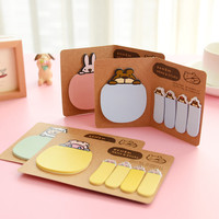 Cute Animal Korean Rabbit Sheep Kawaii Stationery Post It Diary Memo Pad Scrapbooking Sticky Notes Book Paper Sticker Bookmark