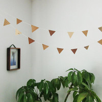 Wood Garland / Bunting - 5 feet - made from scrap veneer, biodegradable cotton string and fish glue