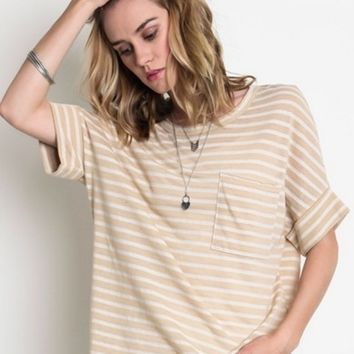 Taupe of the Morning Top - Taupe