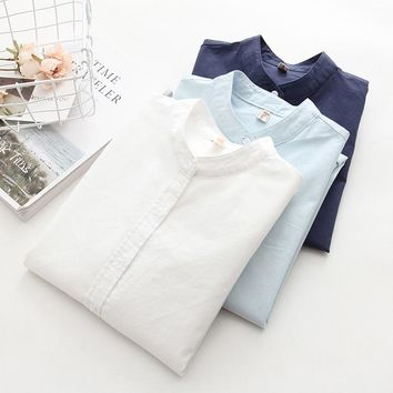 Long Sleeve White Blue Womens Oxford Shirts Plus Size New Casual Woman Office Blouse Female Wear High Quality Ladies Tops