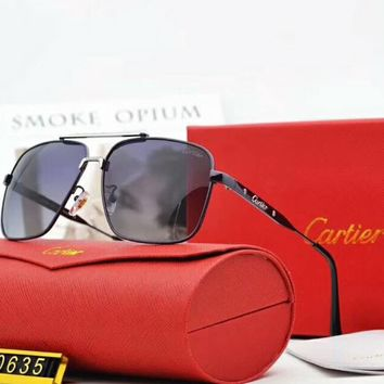 Cartier Polarized Metal Mens Square Sunglasses F-A-SDYJ NO.2