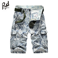 Men Camouflage Overalls 2015 New Multipocket Cargo Shorts Loose Spring Summer Fashion For Mens Military Training Short 30-40
