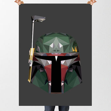 Boba Fett Print, Star Wars Wall Art, Star Wars Poster, Low Poly Art, INSTANT DOWNLOAD, Printable Art, Movie Poster, Jango Fett, Clone Wars