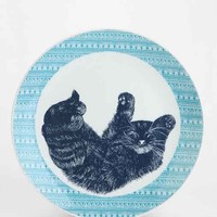 Plum & Bow Critter Plate- Blue One