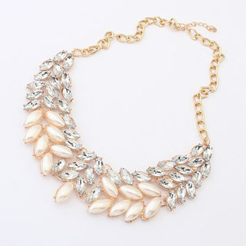 New Arrival Gift Shiny Jewelry Korean Accessory Pearls Stylish Necklace [6586421639]