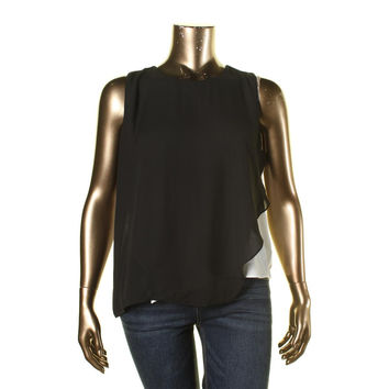 Vince Camuto Womens Sleeveless Lined Pullover Top