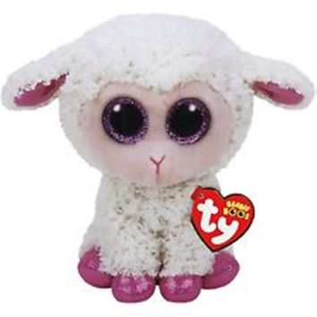 """NEW 2017 Twinkle The Easter Lamb 6"""" Plush Ty Beanie Boos Toy Doll"""