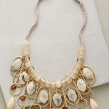 Trimurti Bib Necklace by Anthropologie in Neutral Motif Size: One Size Necklaces