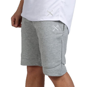 King Apparel - Staple Layered Short - Marl Grey