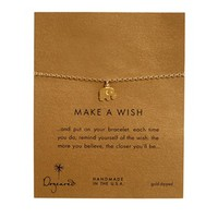 Dogeared Gold Plated Make A Wish Elephant Bracelet