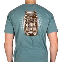 South of the Line Shine Short Sleeve Tee Shirt in Green by Southern Fried Cotton