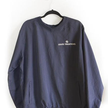 STATE TRADITIONS VENTED PULLOVER NAVY