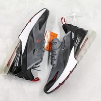 "New Nike Air Max 270 ""Transparent"" Running Shoes Grey/Black - Best Online Sale"