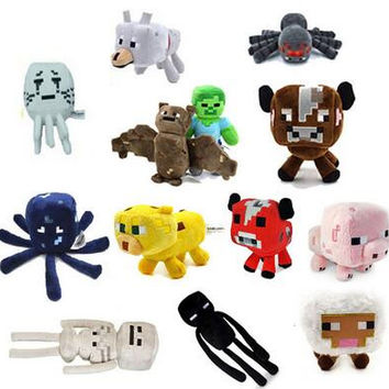 16CM-25CM 1PCS Minecraft Plush Toys Stuffed Plush Toys Minecraft Ocelot Animal Plush Toys yellow for Kids Plush Toys Dolls