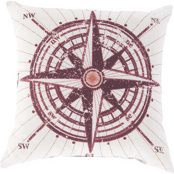Surya Rain Throw Pillow Red, Pink