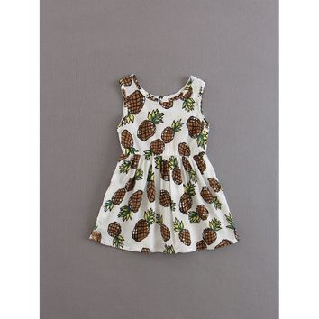 Kids Pineapple Print Dress