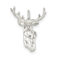 Sterling Silver Deer Head Charm QC1785
