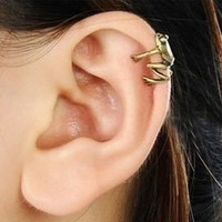 Fashion Cute Little Frog Ear Cuff = 1651172548