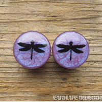 Coheed and Cambria Dragonfly Plugs - 00g, 7/16, 1/2, 9/16, 5/8, 3/4, 7/8, 1 Inch - CUSTOMIZABLE