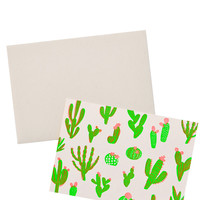Neon Cactus Card Set