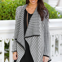 Nothin' but a Houndstooth Cardigan