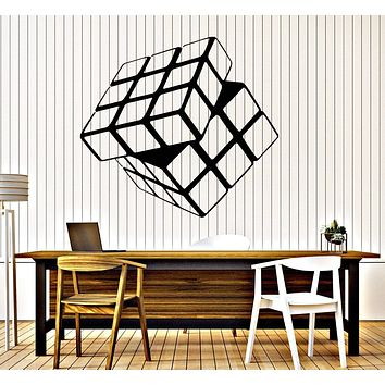 Vinyl Decal Rubik's Cube For Living Room Home Decor Arts Wall Stickers Unique Gift (ig1540)