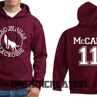 McCALL 11 Beacon Hills Lacrosse Wolf 11 Number  Teen Unisex Hoodie - Tumblr Text - Part 3