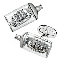 Ship-in-a-Bottle Cuff Links - Jan Leslie