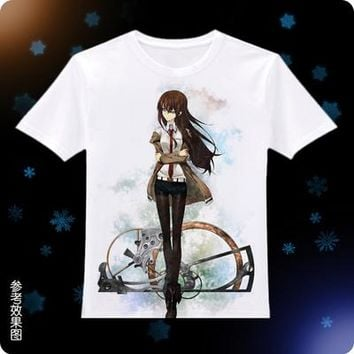Anime T-Shirt cosplay Steins Gate 0 Cosplay T-Shirt Anime Game Okabe Rintarou Hooin Kyoma T shirt Fashion Men Women Tees AT_57_4