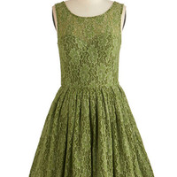 Chi Chi London Mid-length Tank top (2 thick straps) Fit & Flare Cherished Celebration Dress in Olive