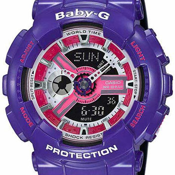 Casio Baby-G - Analog-Digital - Purple 3-D Face - Black Strap - 100M
