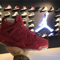 Nike Air Jordan Retro 4 IV Red AJ4 Discount Men Sports Basketball Shoes Sale Online 93