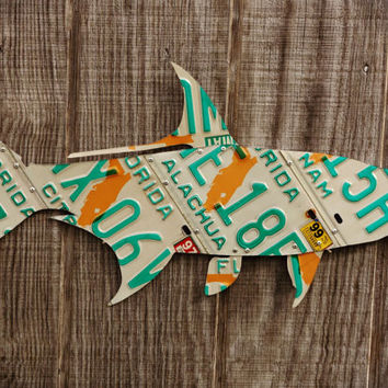Upcycled Florida License Plate Tarpon Fish