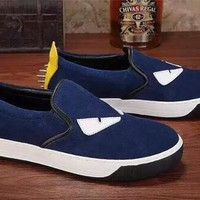 2016 brand suede real leather little monster eyes casual shoes flat shoes loafers high