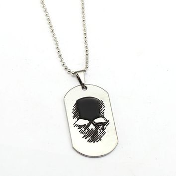 Necklace Skull Dog tag Beads Chain Pendant Men Women Necklaces Jewelry Accessories