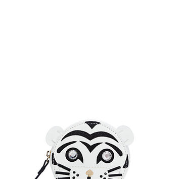 Kate Spade Taft Street Tiger Coin Purse Cream/Black ONE