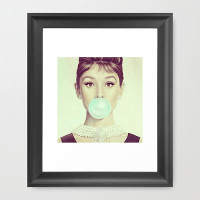Audrey H Framed Art Print By From Society6 Things For My