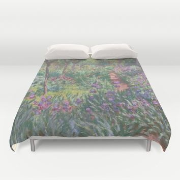 Monet's garden at Giverny Duvet Cover by anipani