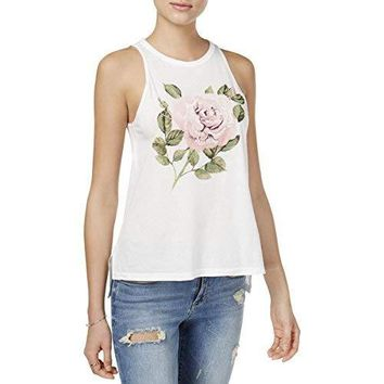 Carbon Copy Womens Sleeveless Rose Tank Top