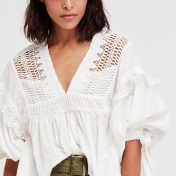 Women's Free People Drive You Mad Peasant Blouse