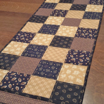 Table Navy Runner T Quilted More Country