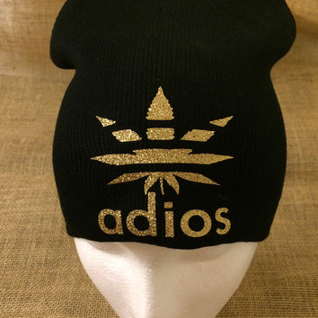 Solid Black Adios Leaf