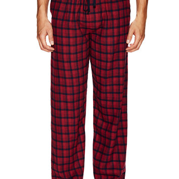 Ben Sherman Men's Checkered Lounge Pants - Red -
