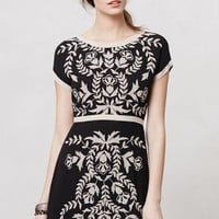 Embroidered Ombra Shift by Maeve Black Motif S P Dresses