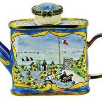 View of Beach St Adresse Mini Porcelain Teapot by Monet