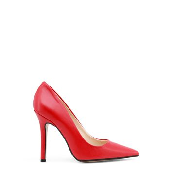 Made In Italia Red Leather Pointed Toe Pumps