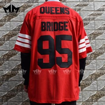 MM MASMIG Prodigy 95 Hennessy Queens Bridge American Football Jersey Red
