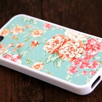 Pink Floral iPhone 6s 6 plus case iPhone 6s rubber case Cute iPhone 5s 5 5c silicone case Green iPhone 6 Case