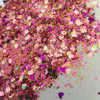 Dusty Rose (Chunky Loose Glitter ~6 grams): face, makeup, hair, nail art, festival glitter, costume, unicorn, coachella burning man makeup